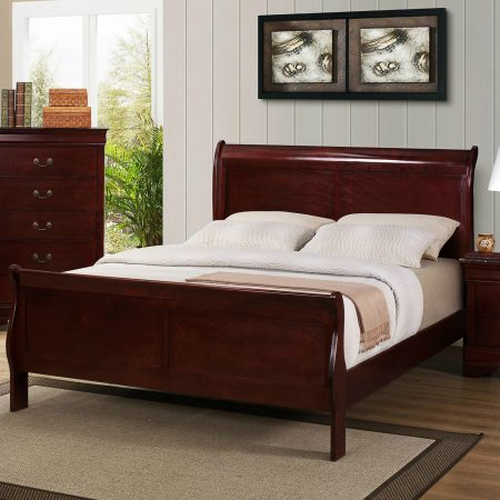 Queen Cherry Sleigh Bed In Houston