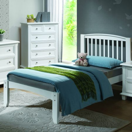 Solid Wood Twin White Platform Bed In Houston