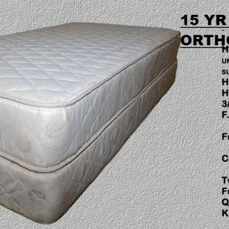 KING ORTHOPEDIC Mattress Set  15YR Warranty  FIRM