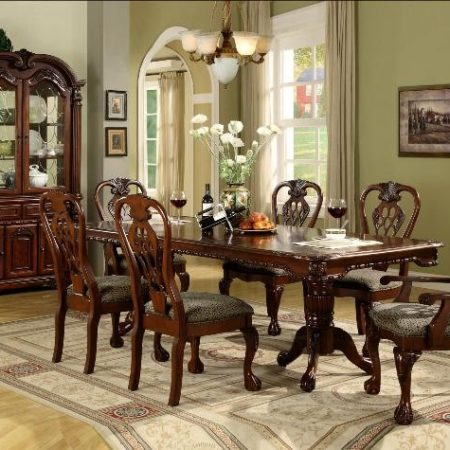 elegant ornate 7pc formal dining set