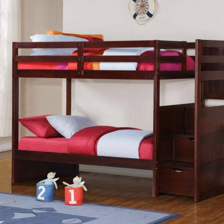 solid wood staircase bunk bed houston
