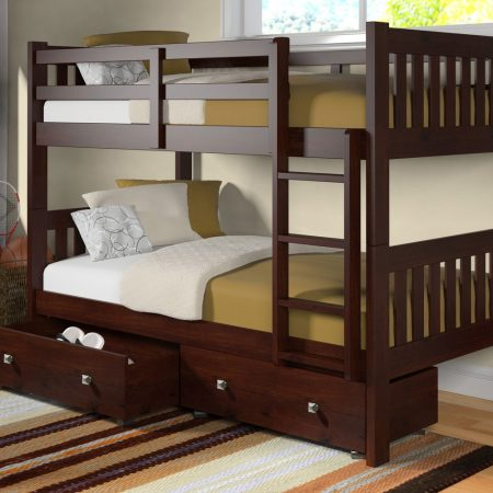 solid wood bunk bed with storage Houston