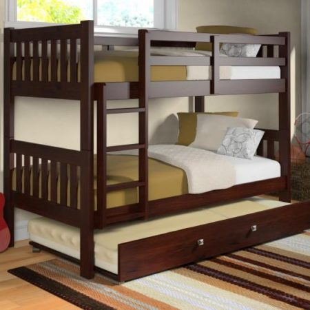 solid wood bunk bed with trundle Houston