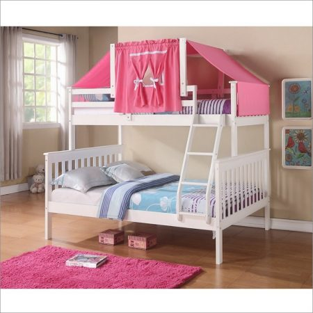 twin over full bunk bed with tent Houston