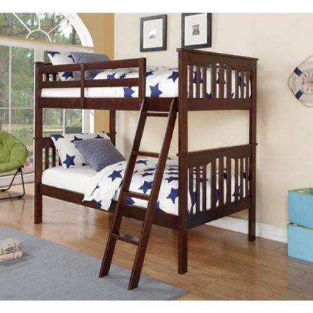 solid wood franklin walnut bunk bed Houston