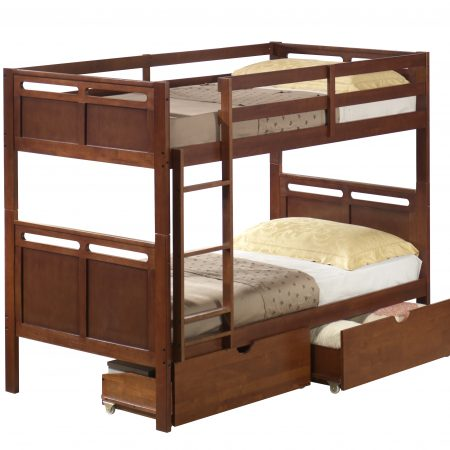 solid wood bunk bed with drawers in Houston