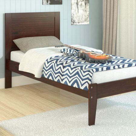 Espresso Solid Wood Twin Platform Bed In Houston