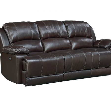 Audubon Reclining Sofa AND Love Seat In Genuine Leather In Houston