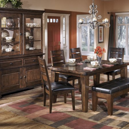 Ashley Larchmont Dining Set with Bench in Houston