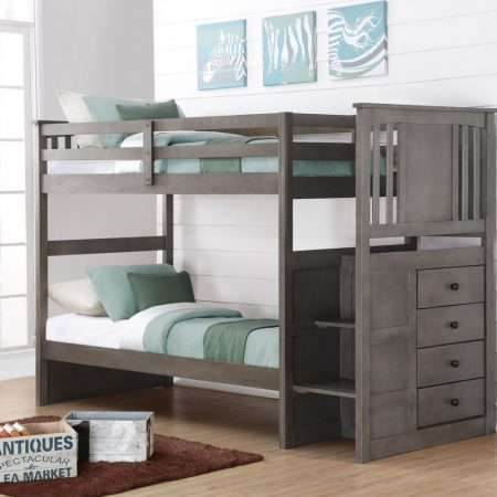 Princeton Stairway Bunk Bed - Slate Gray In Houston