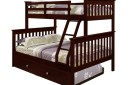 Espresso Twin Over Full bunk bed with trundle in Houston