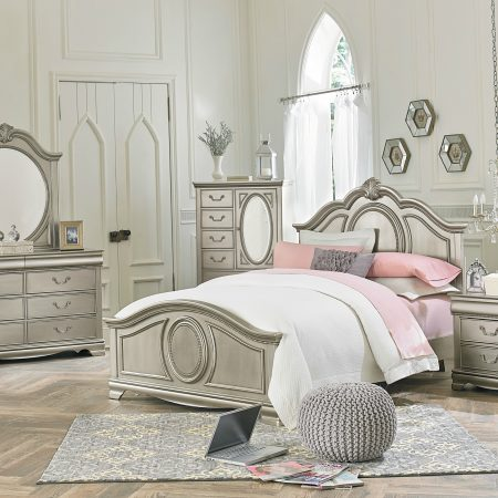Jessica Silver Twin Bedroom Set