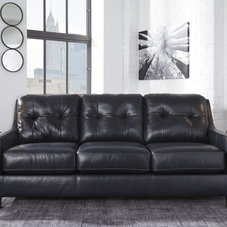 Ashley O'Kean Sofa And Love - Genuine Leather - Dream Rooms Furniture