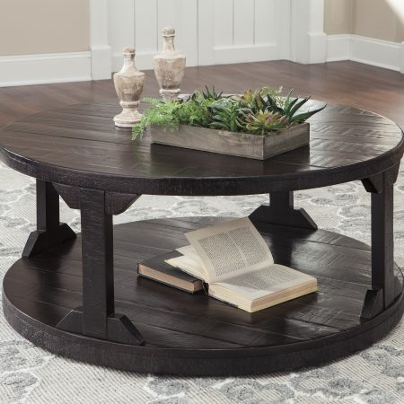 ashley rogness round coffee table - dream rooms furniture