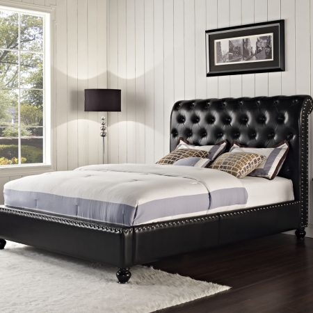Stanton Black Queen Upholstered Bed In Houston
