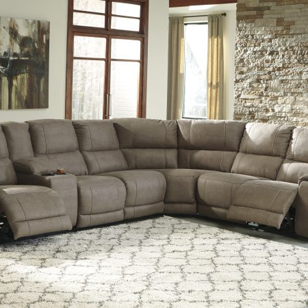 Ashley Bohannon Taupe Power Reclining Sectional In Houston