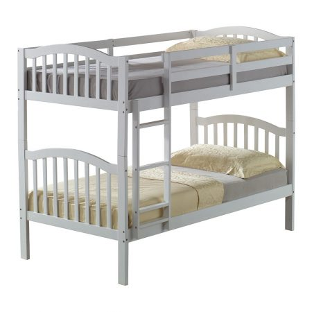 Solid Wood White Bunk Bed In Houston