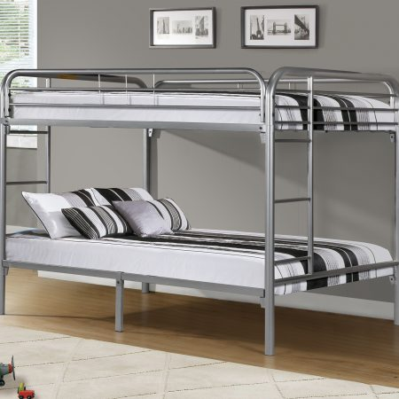Silver Full Over Full Bunk Bed In Houston