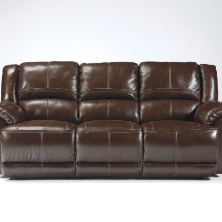 Ashley Lenoris Coffee Sofa Genuine Leather In Houston