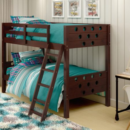 Cappuccino Circles Solid Wood Bunk Bed In Houston