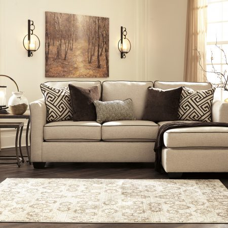Ashley Carlinworth Sectional - Linen In Houston