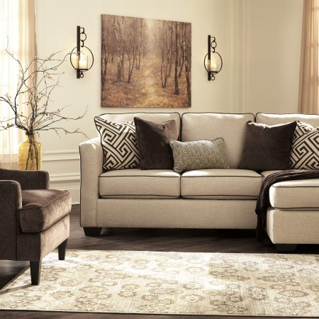 Ashley Carlinworth Sectional With Accent Chair In Houston