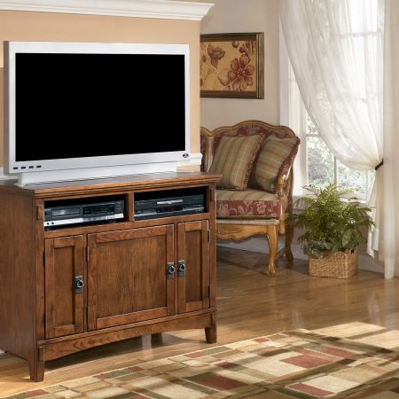 Ashley Cross Island TV Stand In Houston