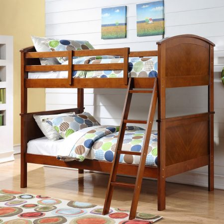 Arch Panel Solid Wood Bunk Bed In Houston