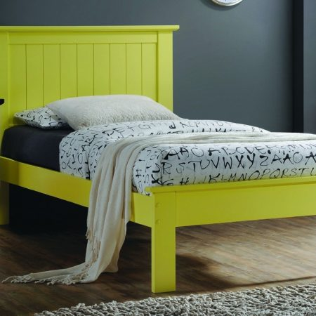 Solid Wood YELLOW Twin Platform Bed In Houston