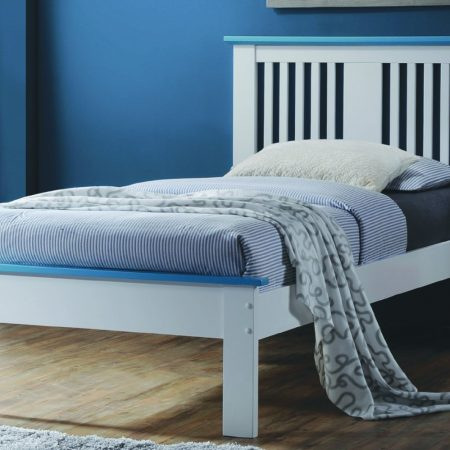 Solid Wood WHITE Twin Platform Bed! In Houston