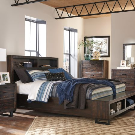 Ashley Parlone Queen Bedroom Set With Storage Bench In Houston