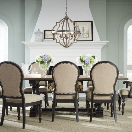 Cambria Dining Table With Eight Chairs In Houston